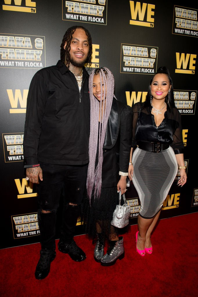 "Waka Flocka, Charlie Rivera, and Tammy Rivera attend the WE tv ""Waka & Tammy: What The Flocka"" premiere 