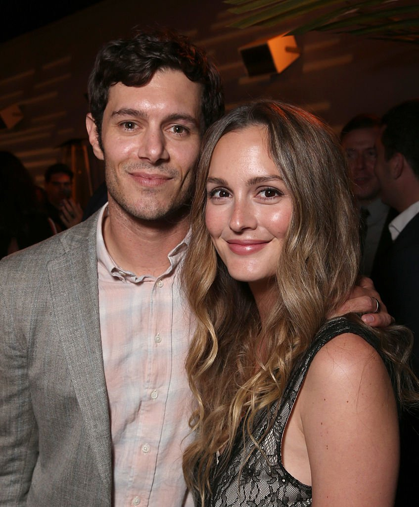 Adam Brody and Leighton Meester at the after party for the premiere pf Crackle's 'Startup', August 2016 | Source: Getty Images
