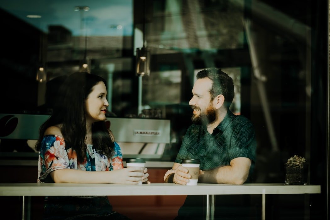 There was a young couple at the next table | Source: Unsplash