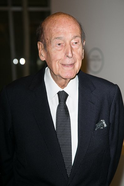 "Valery Giscard d'Estaing assiste aux ""Icones de l'Art Moderne, La Collection Chtchoukine"". 