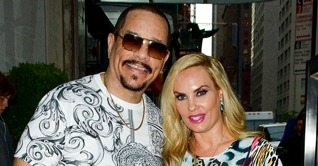 Coco Austin Flaunts Her Hourglass Figure in a Dress While Getting Ready For Departure on a Jet with Family