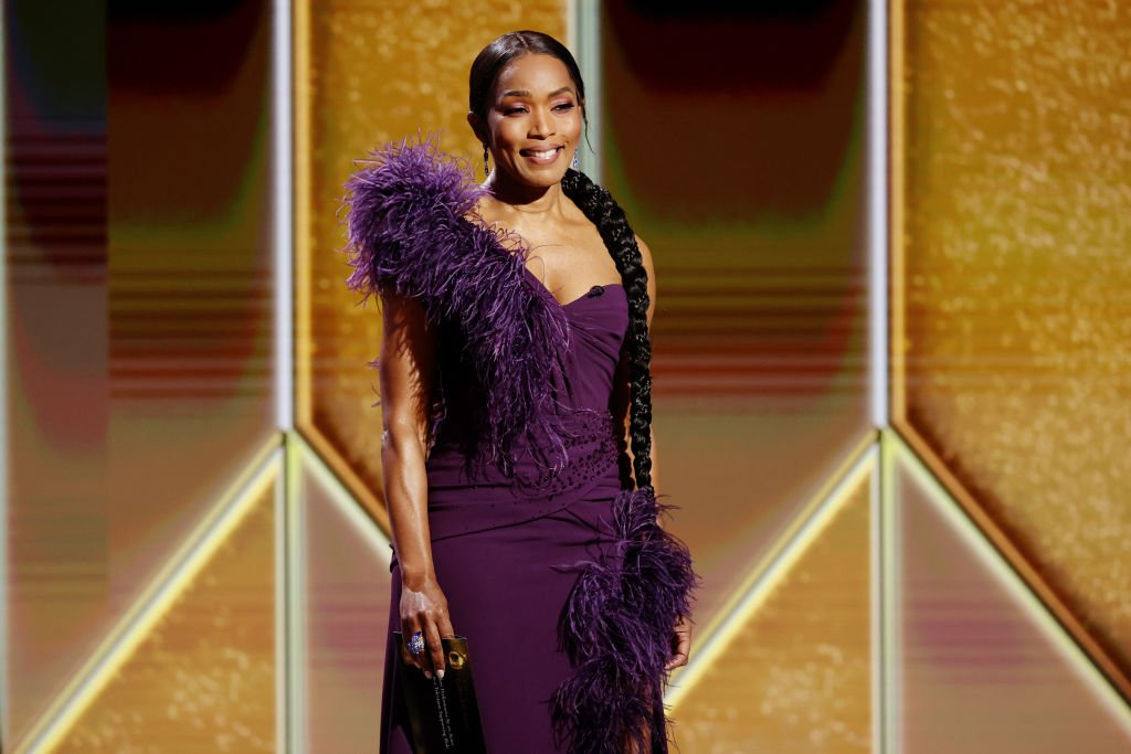 Angela Bassett at the 78th Golden Globe Awards on February 28, 2021 in Los Angeles, California.   Photo: Getty Images