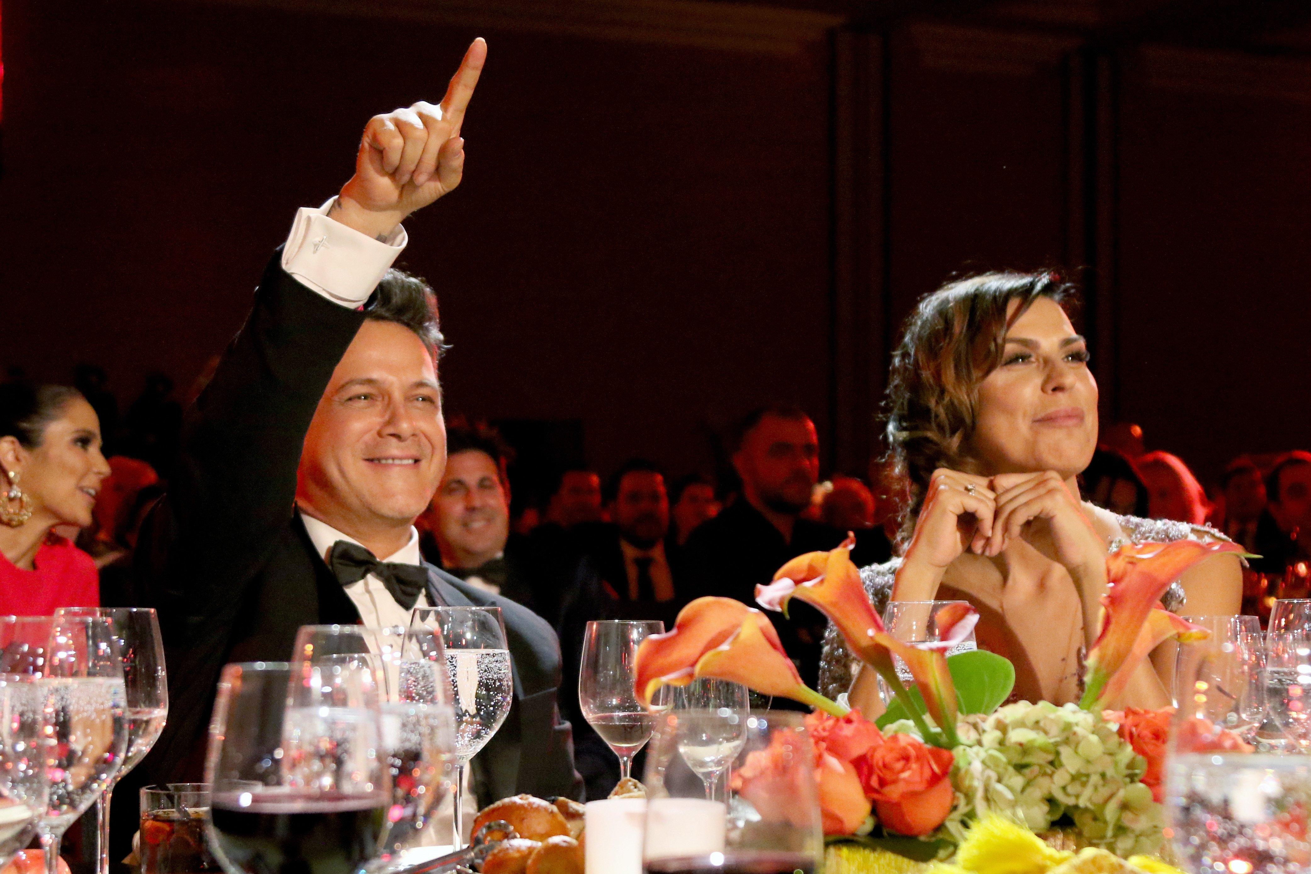 Alejandro Sanz y Raquel Perera en 2017 || Fuente: Getty Images