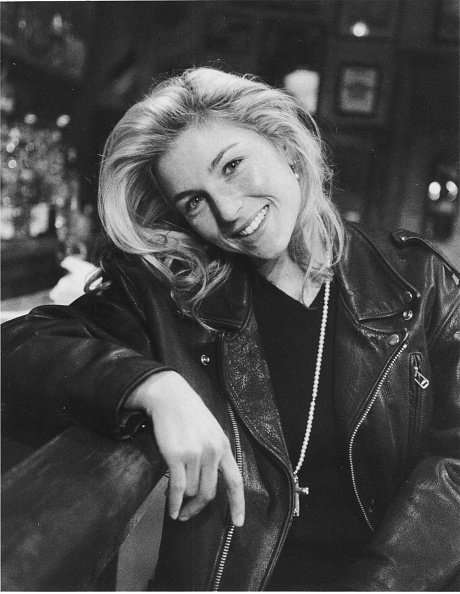 """Oscar winner actress Tatum O'Neal poses for a photographer on the set of the play, """"A Terrible Beauty,"""" at the Provincetown Playhouse on April 7, 1992 