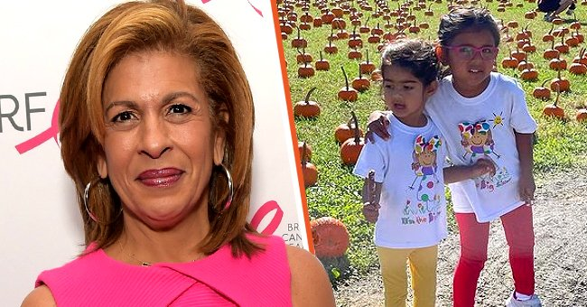 Hoda Kotb on the left and her daughters Hope and Haley on the right   Photo: Getty Images   Instagram.com/hodakotb