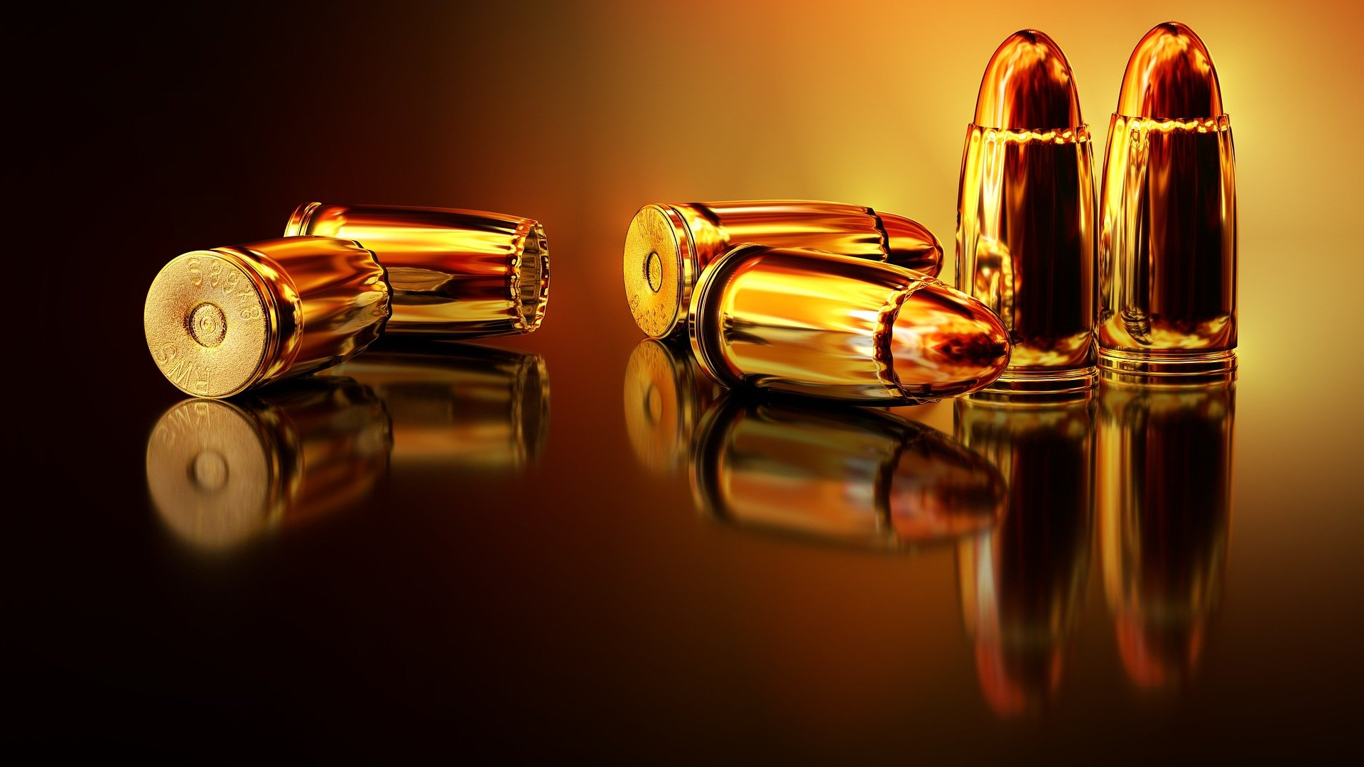 Pictured - A photo of bullet shells   Source: Pixabay