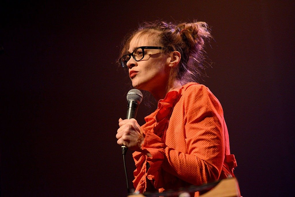 """Fiona Apple performs onstage during the """"We Rock with Standing Rock"""" benefit concert at The Fonda Theatre on December 18, 2016   Photo: Getty Images"""