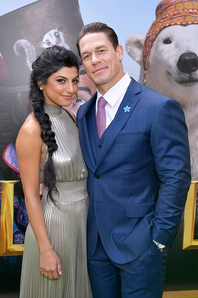 Shay Shariatzadeh and John Cena at Regency Village Theatre on January 11, 2020 in Westwood, California. | Photo: Getty Images