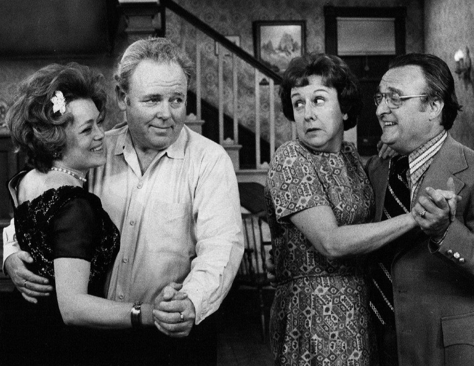 "Rue McClanahan, Vincent Gardenia,Carroll O'Connor and Jean Stapleton in ""All in the Family"" 