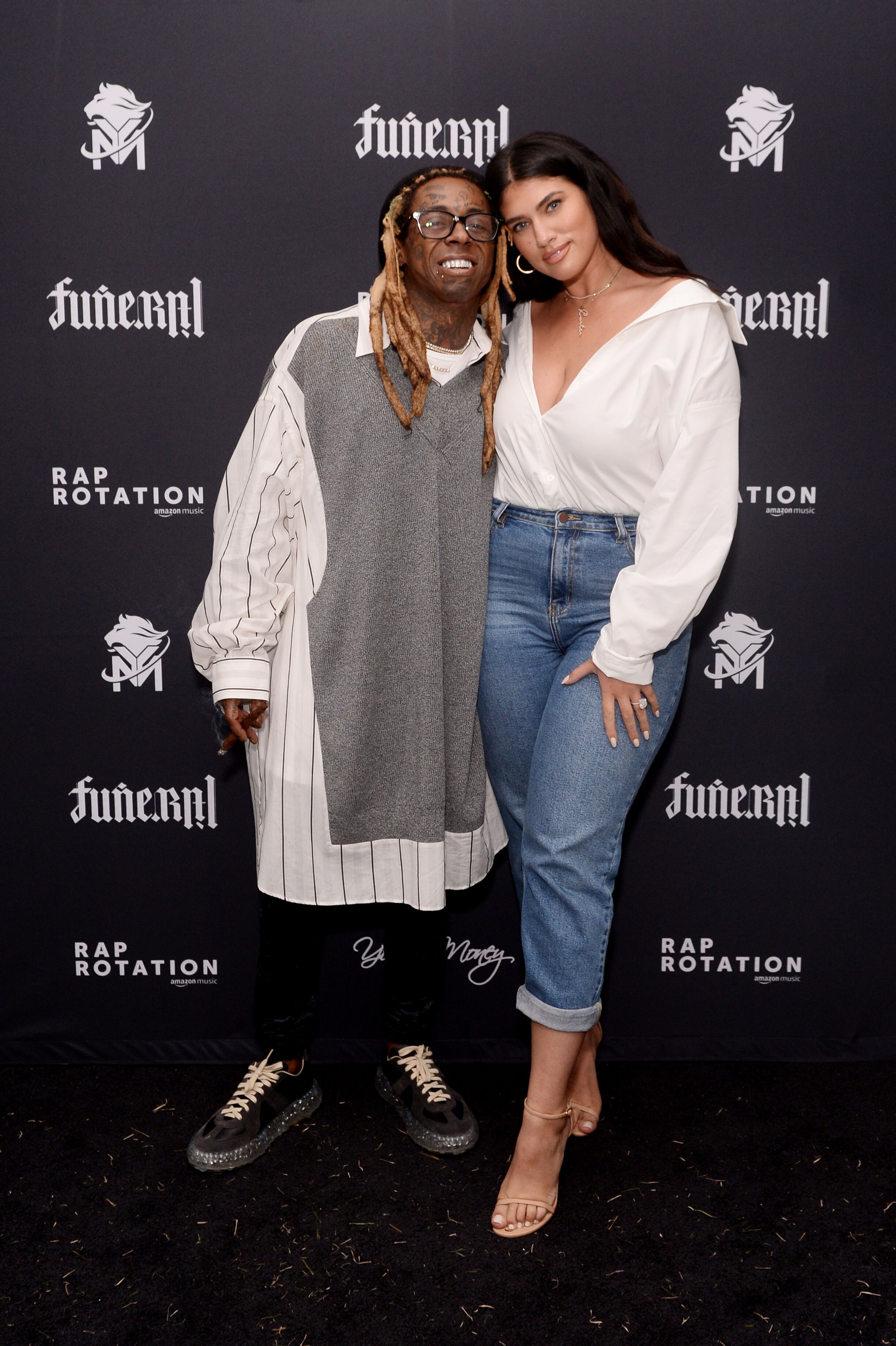 """Lil Wayne and La'Tecia attend the """"Funeral"""" Album Launch Party 