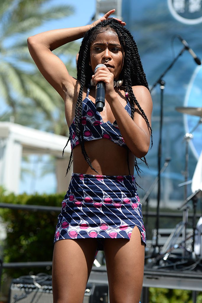 Simone Battle of G.R.L. performs during Mackapoolza at Fontainebleau Miami Beach on July 19, 2014.   Photo: Getty Images