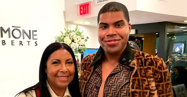 Magic Johnson's Son EJ Bares Plenty of Skin in Fendi Outfit in Photo with Mom Cookie