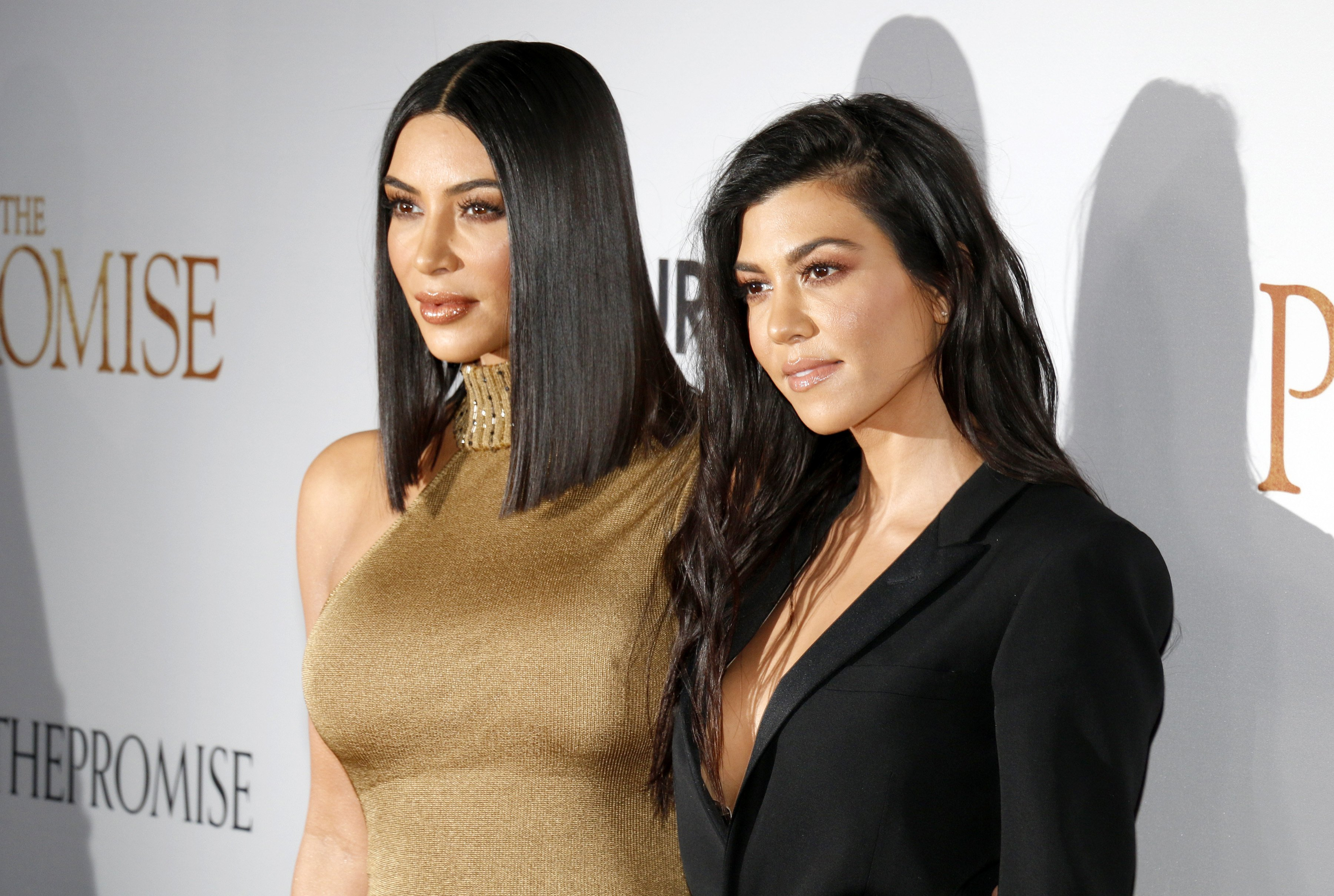 Kim Kardashian West and Kourtney Kardashian at the Los Angeles premiere of 'The Promise' held at the TCL Chinese Theatre in Hollywood, USA on April 12, 2017 | Photo: Shutterstock