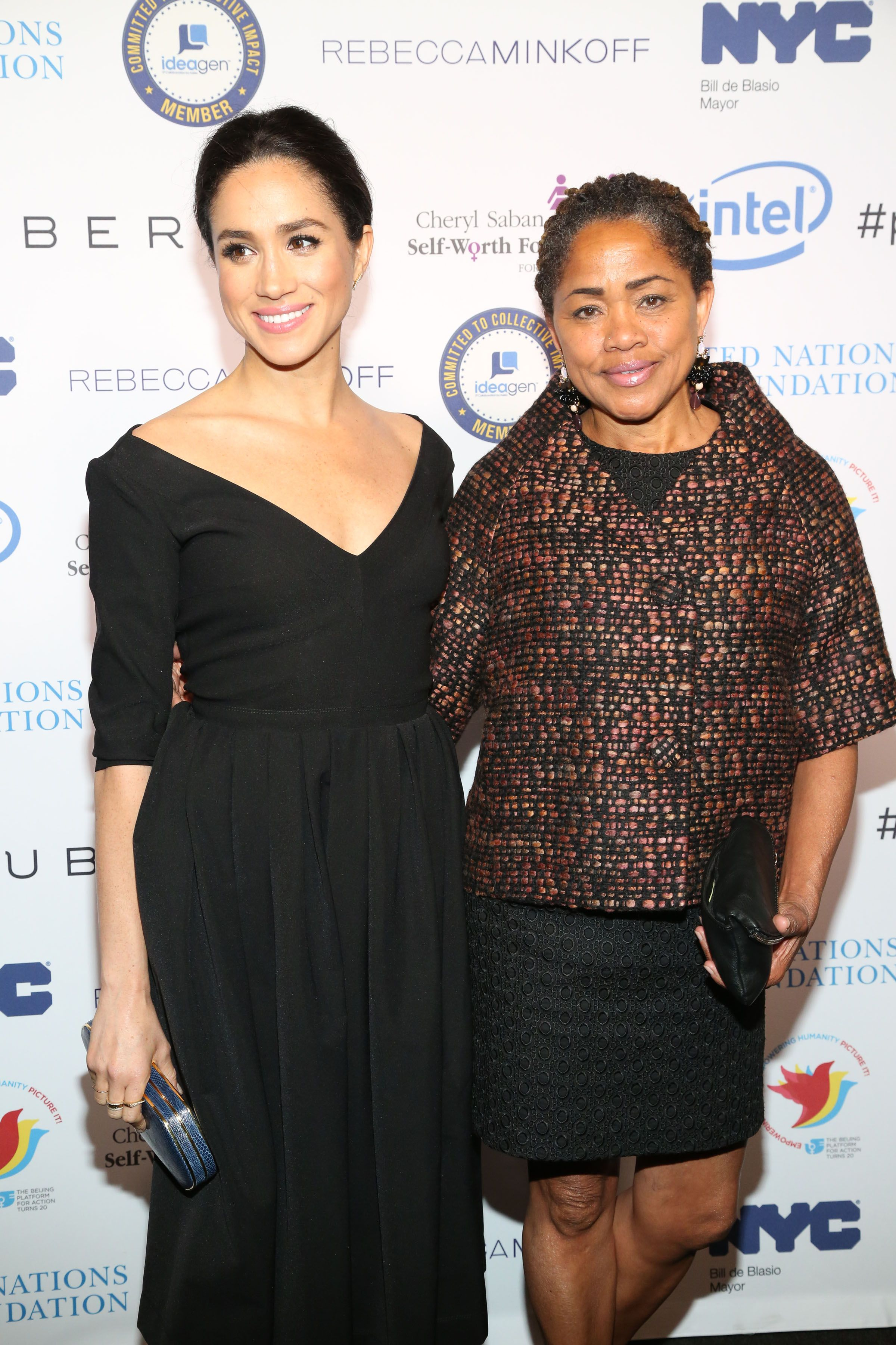 Meghan Markle and Doria Ragland attend UN Women's 20th Anniversary of the Fourth World Conference of Women in Beijing at Manhattan Centre at Hammerstein Ballroom on March 10, 2015 | getty Images