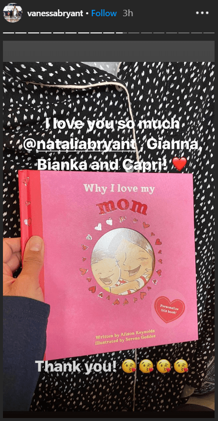 Vanessa Bryant's Instagram post of her daughters' Mother's Day Gift   Source: Instagram/VanessaBryant