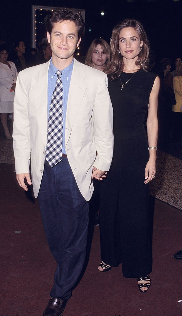 "Kirk Cameron & Chelsea Noble, wife during ""A Concert of Hope"" to Benefit Center on Addiction at Pantages Theater in Hollywood, October 16, 1995  