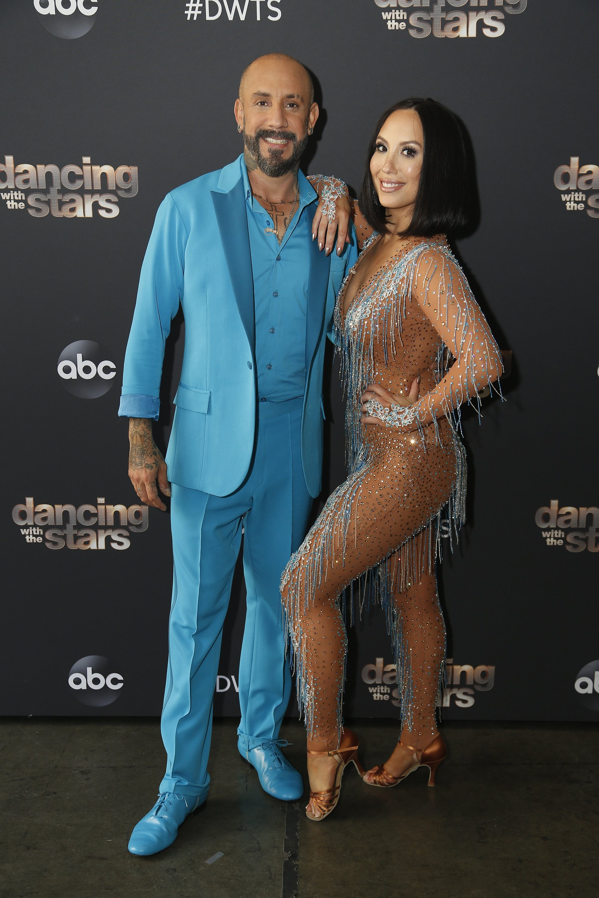 "AJ McLean and his professional dancing partner on season 29 of ""Dancing with The Stars,"" Cheryl Burke. 