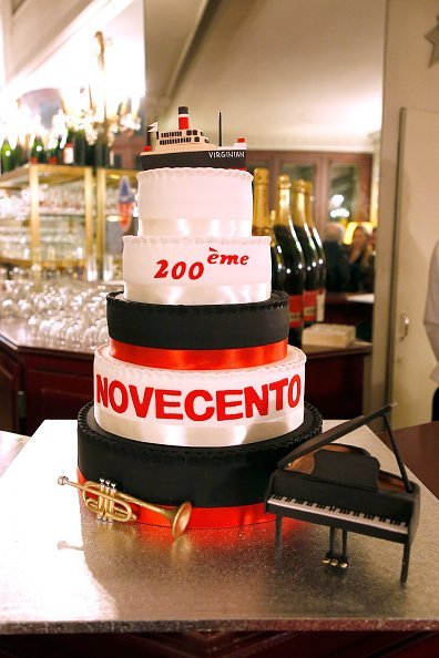 "Illustration view of the Birthday Cake during the ""Novecento"" 200th Performance at Theatre Montparnasse in Paris 