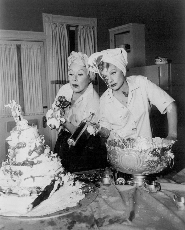 "Vivian Vance and Lucille Ball from ""The Lucy Show,"" circa 1960s 