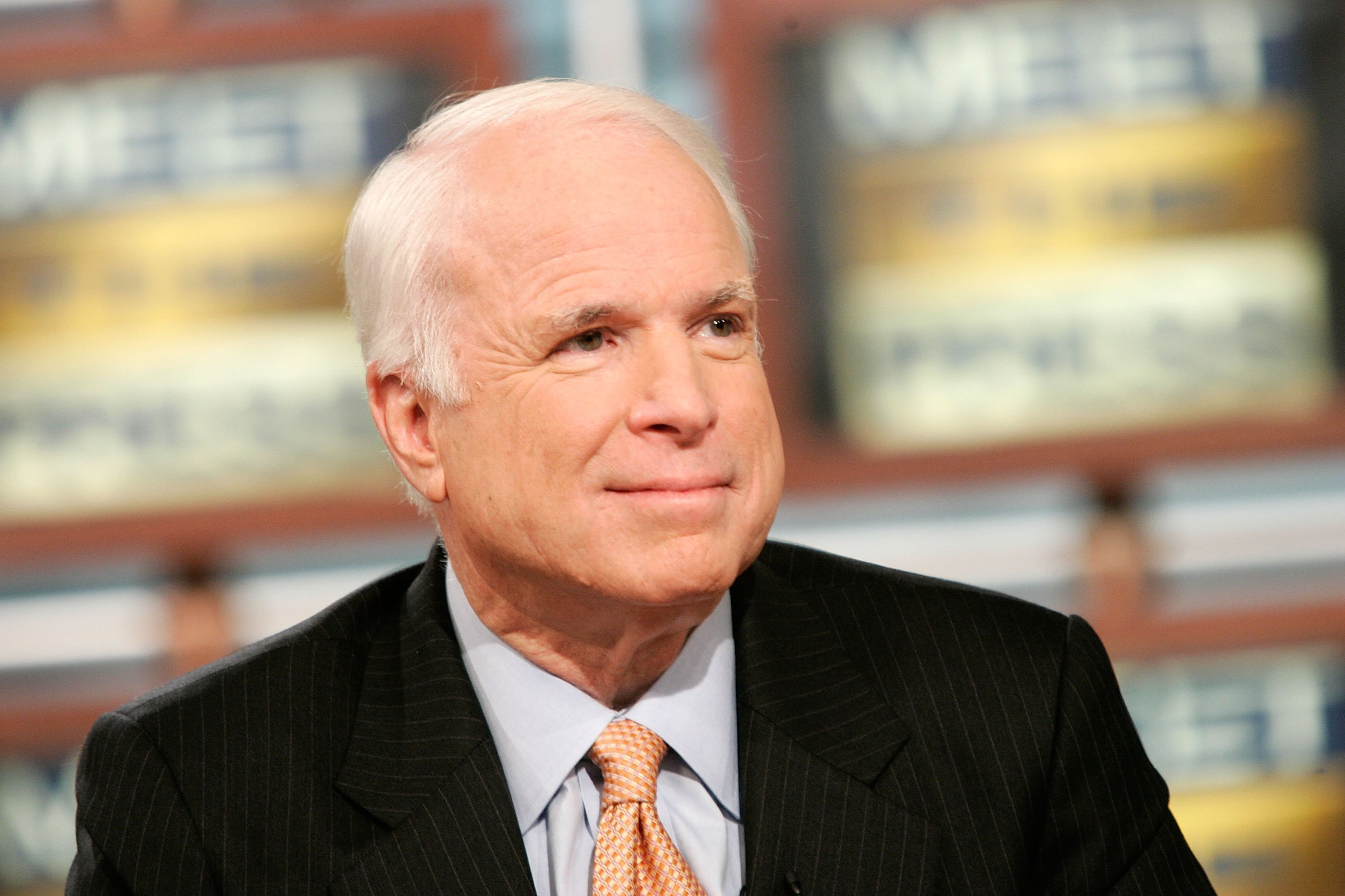 """John McCain speaks on """"Meet the Press"""" during a taping at the NBC studios November 12, 2006 
