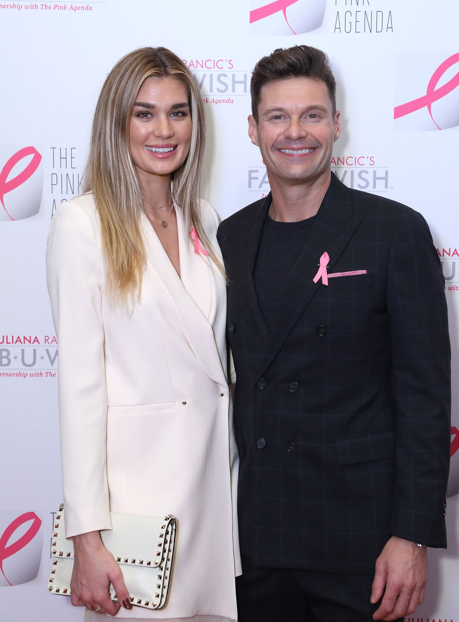 Shayna Taylor and Ryan Seacrest attend The Pink Agenda's Annual Gala at Tribeca Rooftop on October 11, 2018 | Photo: Getty Images