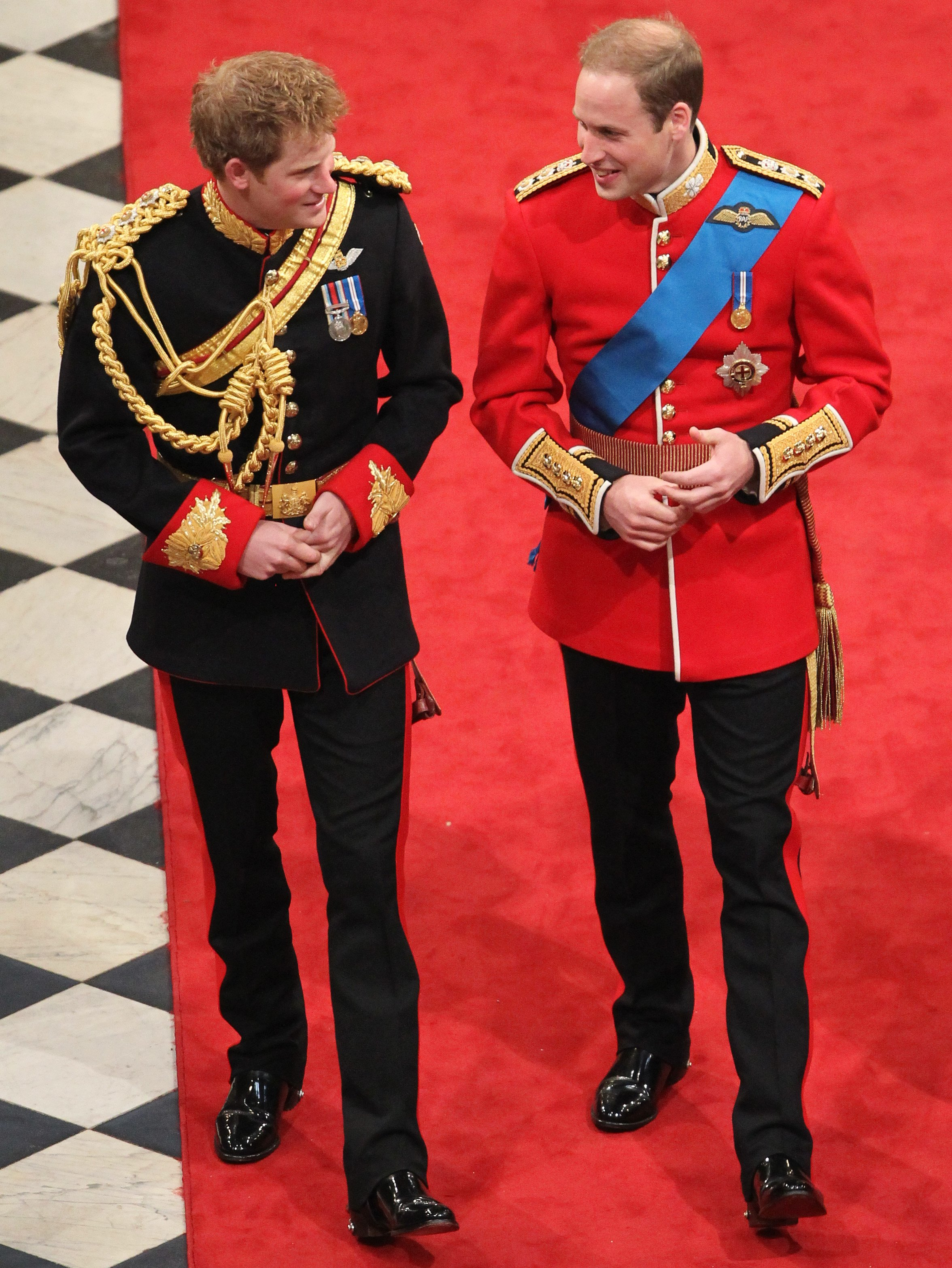 Prince Harry, Duke of Sussex and Prince William, Duke of Cambridge inside Westminster Abbey on April 29, 2011 in London, England | Photo: Getty Images