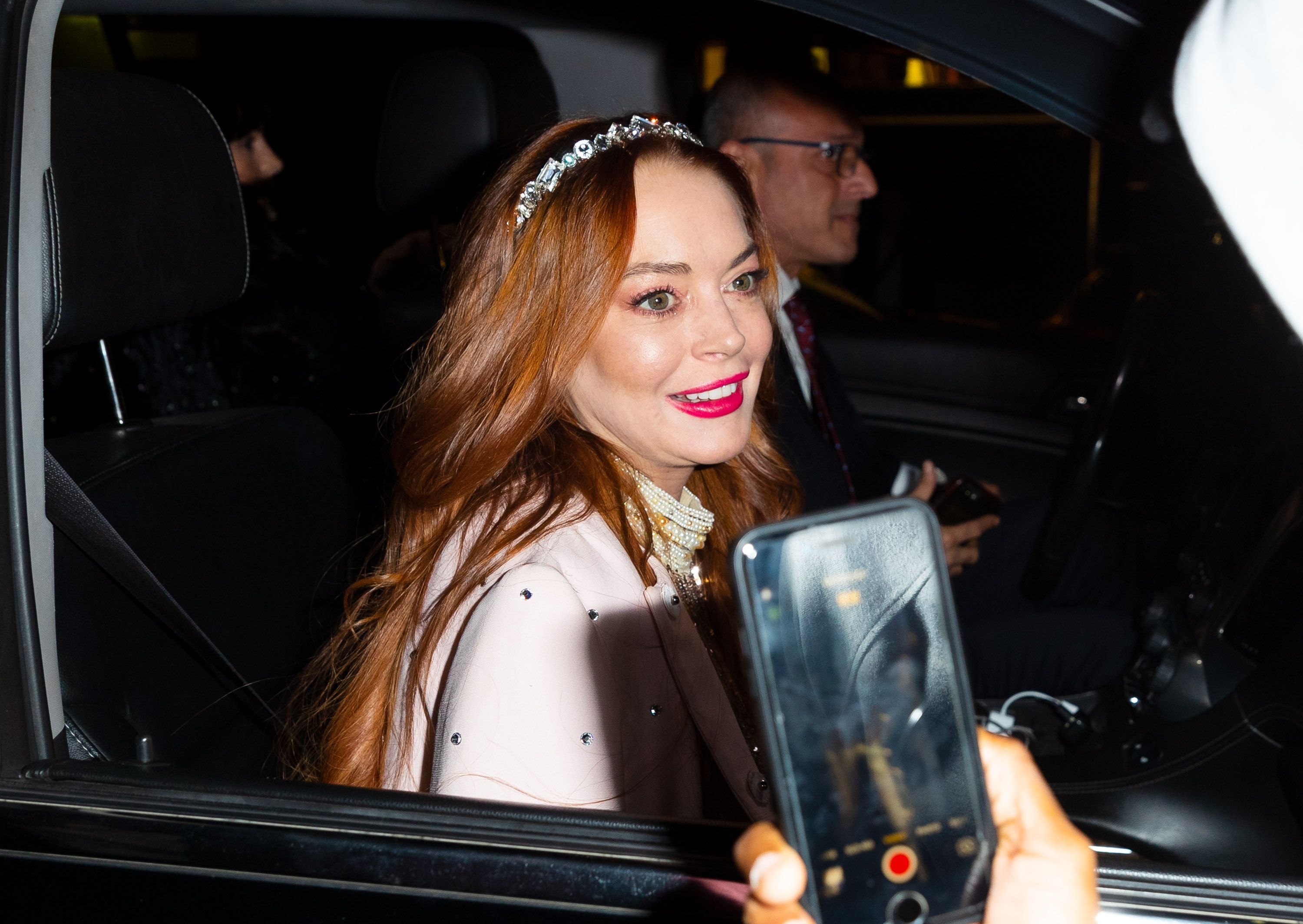 Lindsay Lohan out and about on October 25, 2019 in New York City. | Source: Getty Images