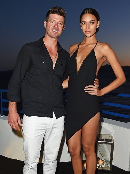 Robin Thicke and April Love Geary at the Martinez Hotel on May 20, 2015 in Cannes, France. | Photo: Getty Images