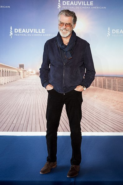 Pierce Brosnan attends a photocall during the 45th Deauville American Film Festival in Deauville | Photo: Getty Images