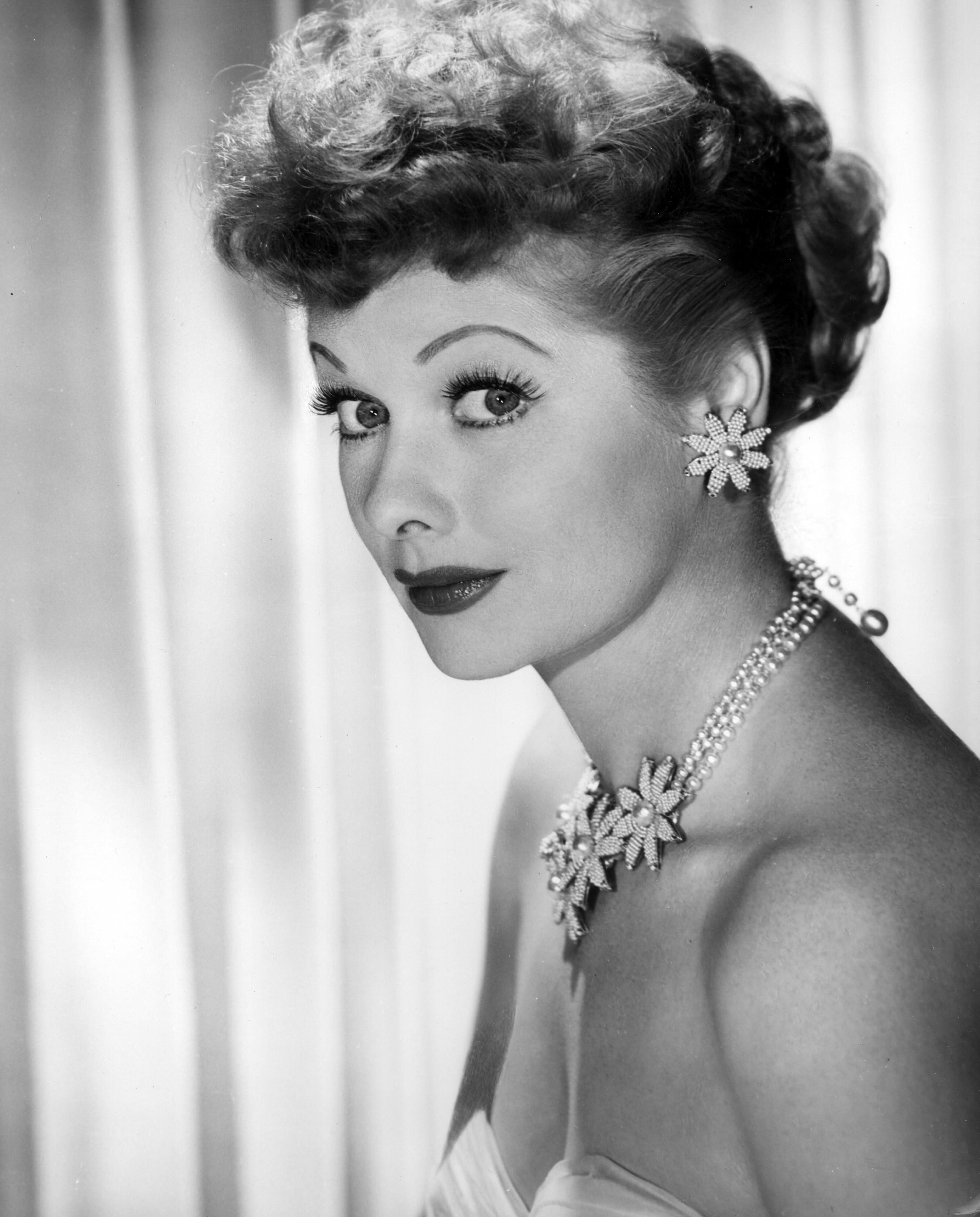 "Comedian Lucille Ball in a promo shot for ""I Love Lucy"" taken in 1958 