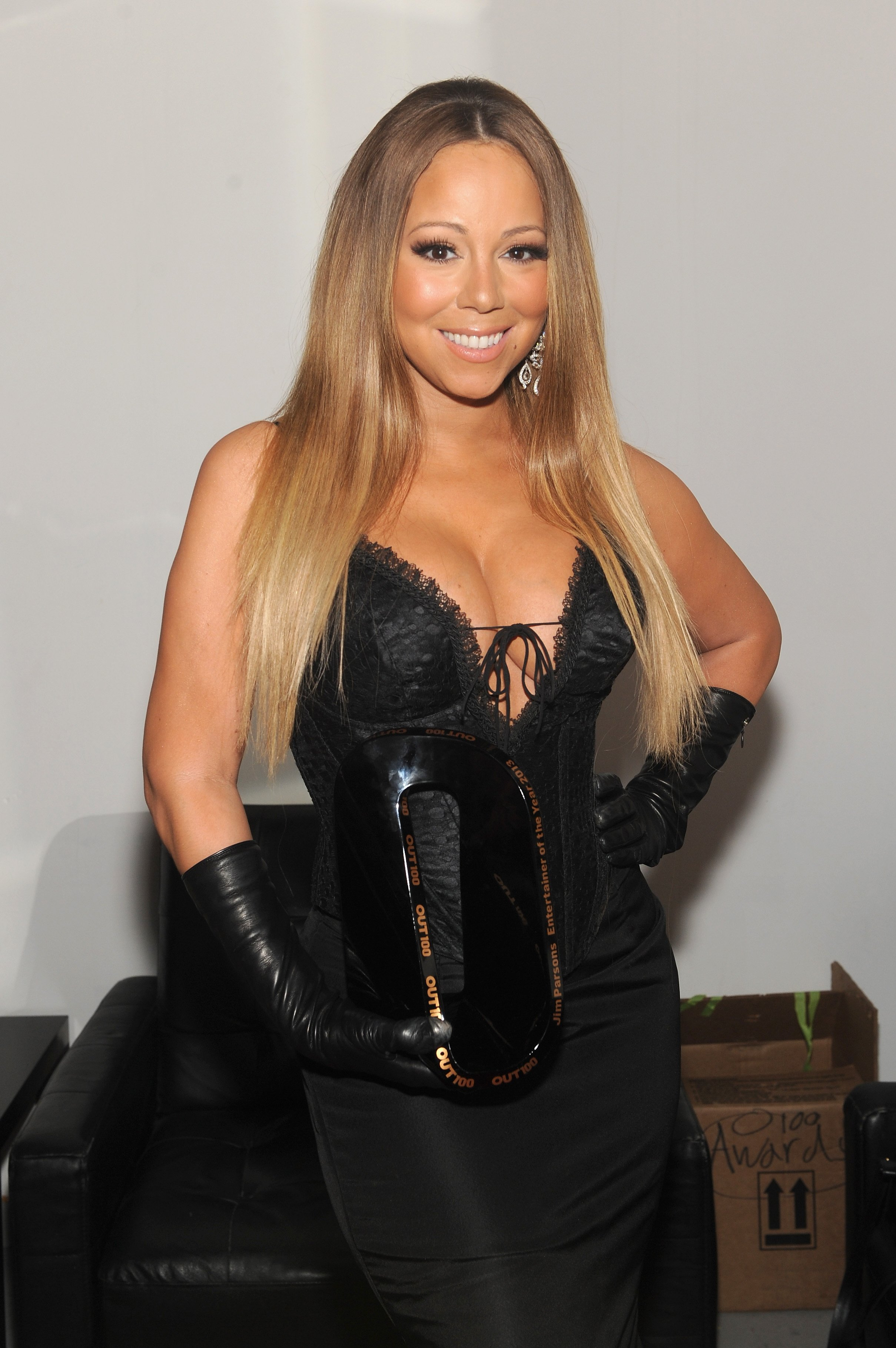 """""""Always be My Baby"""" singer Mariah Carey attends 2013 Annual Out100 Awards in New York City. 