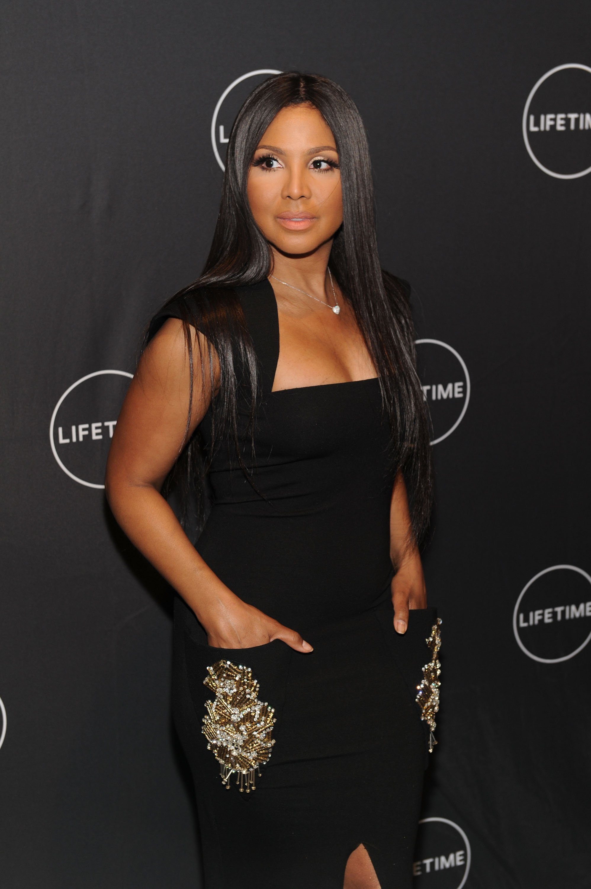 "Toni Braxton attending the ""Faith Under Fire: The Antoinette Tuff Story"" Screening at NeueHouse Madison Square on January 23, 2018 in New York City. 