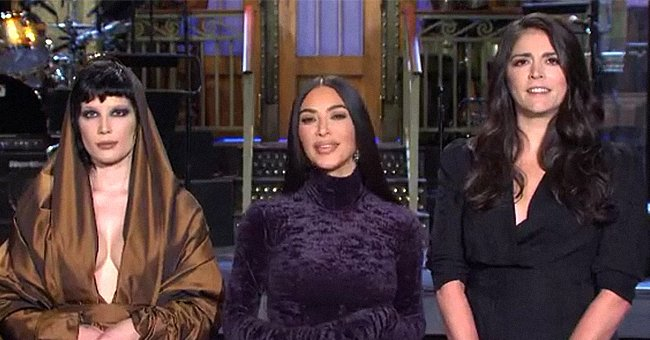 """Cecily Strong, Kim Kardashian, and Halseyappearon a """"Saturday Night Live"""" teaser for Kardashian's upcoming hosting debut. Clip posted on October 7, 2021   Photo: Instagram/nbcsnl"""