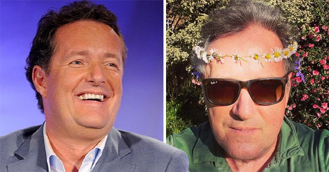 Piers Morgan Dons a Daisy Chain as He Claps Back at Haters after Leaving GMB — See His Response