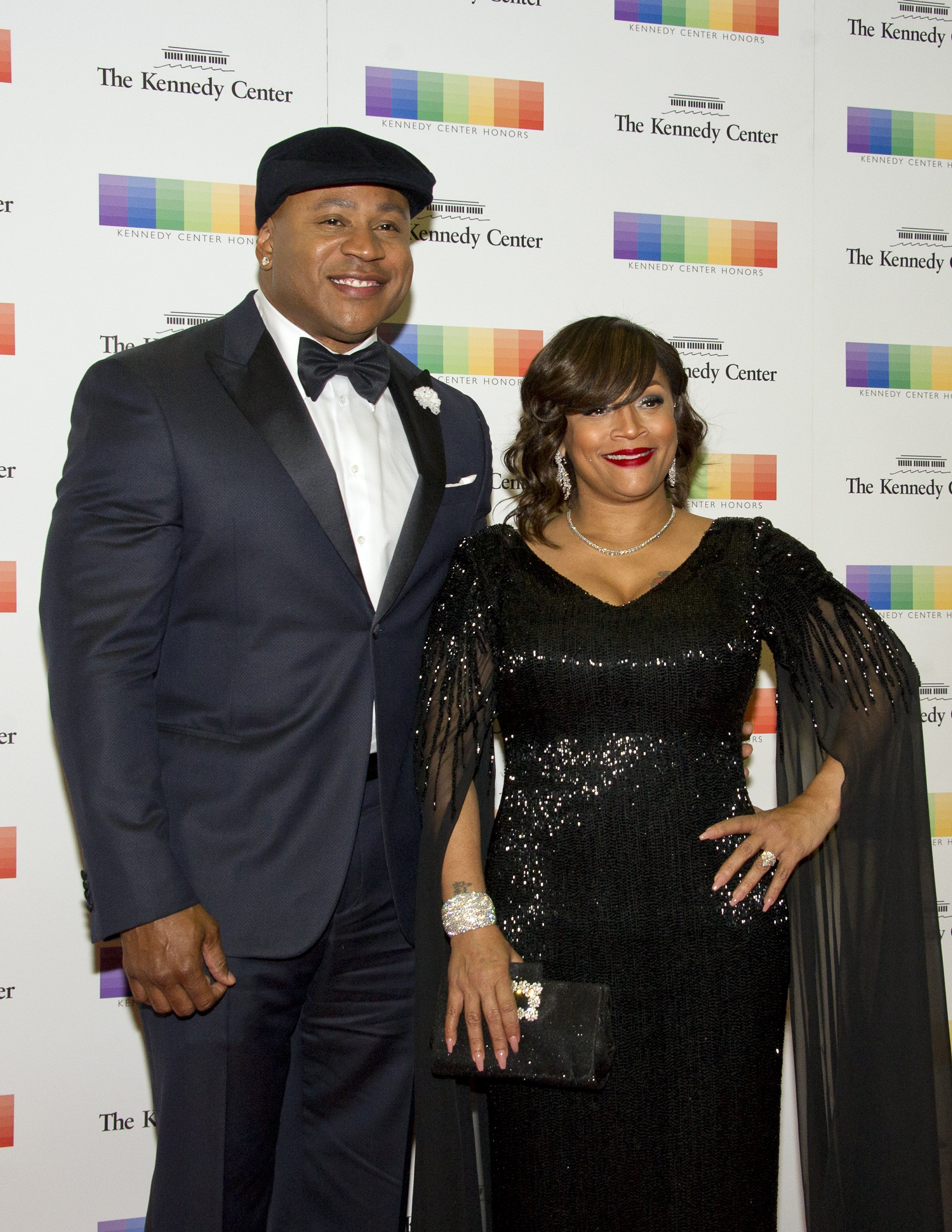 LL Cool J and Simone Smith, at the Artist's Dinner honoring the recipients of the 40th Annual Kennedy Center Honors on December 2, 2017 | Photo: Getty Images