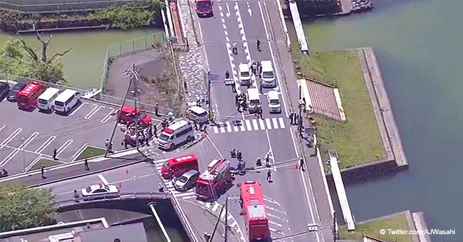 Japon : la voiture a heurté un groupe d'enfants sur le trottoir