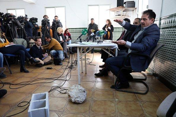 Abogados de David Serrano dan conferencia de prensa. Fuente: Getty Images/Global Images Ukraine