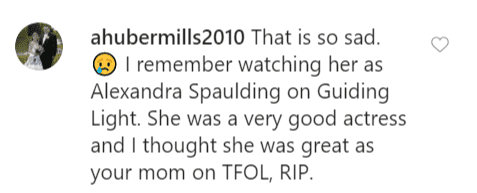 Another fan comment on Lisa's post | Instagram: @lisawhelchel