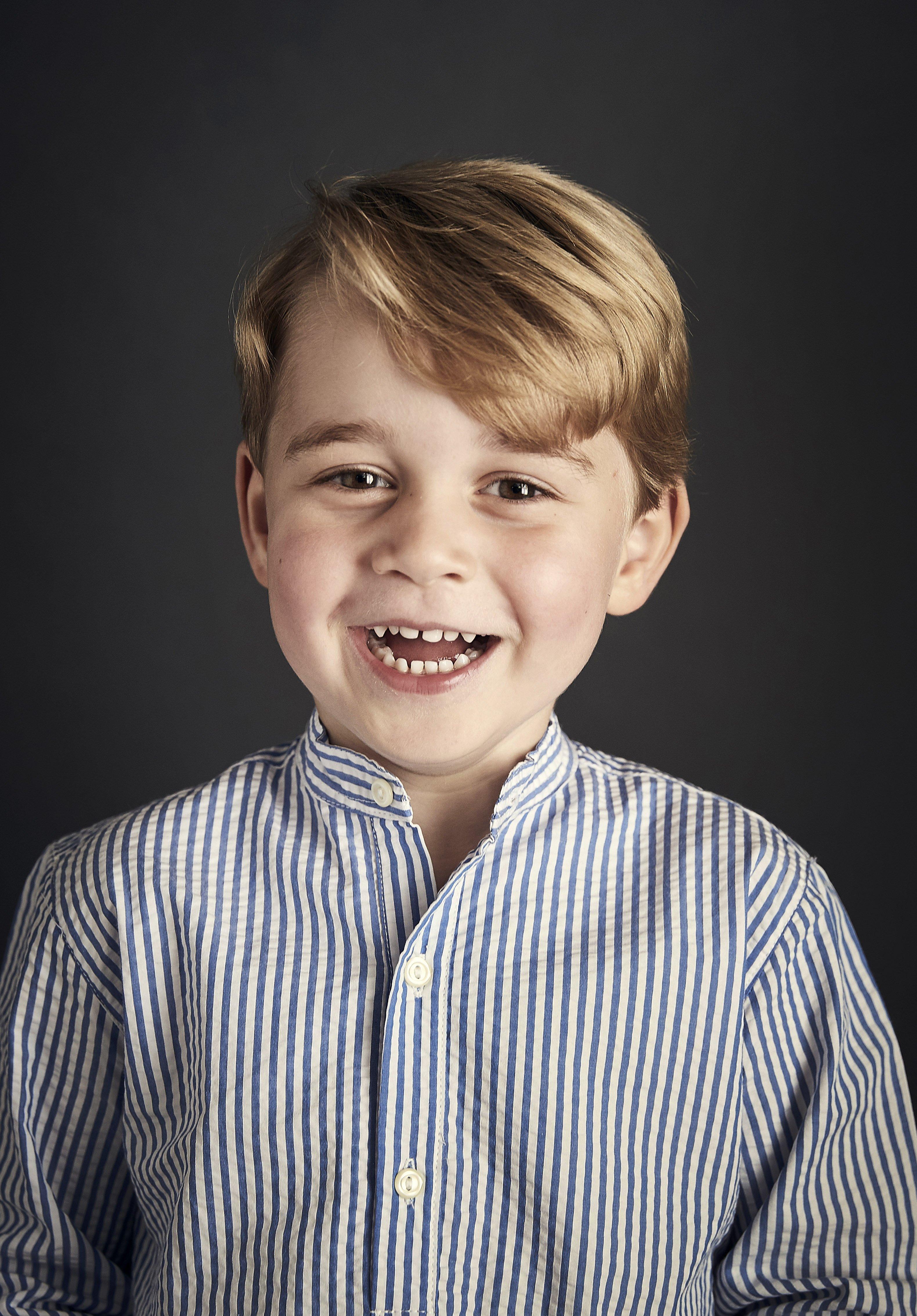 Retrato del príncipe George publicado antes de su cuarto cumpleaños.   Foto: Getty Images