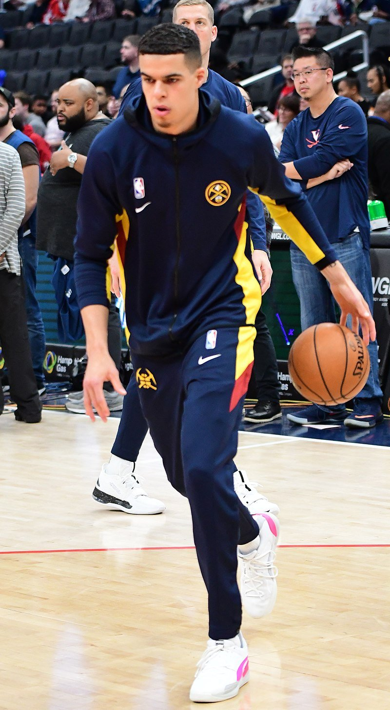 Michael Porter Jr playing for the Denver Nuggets in 2020 | Source: Wikimedia Commons/ All-Pro Reels, Michael Porter Nuggets (cropped), CC BY-SA 2.0