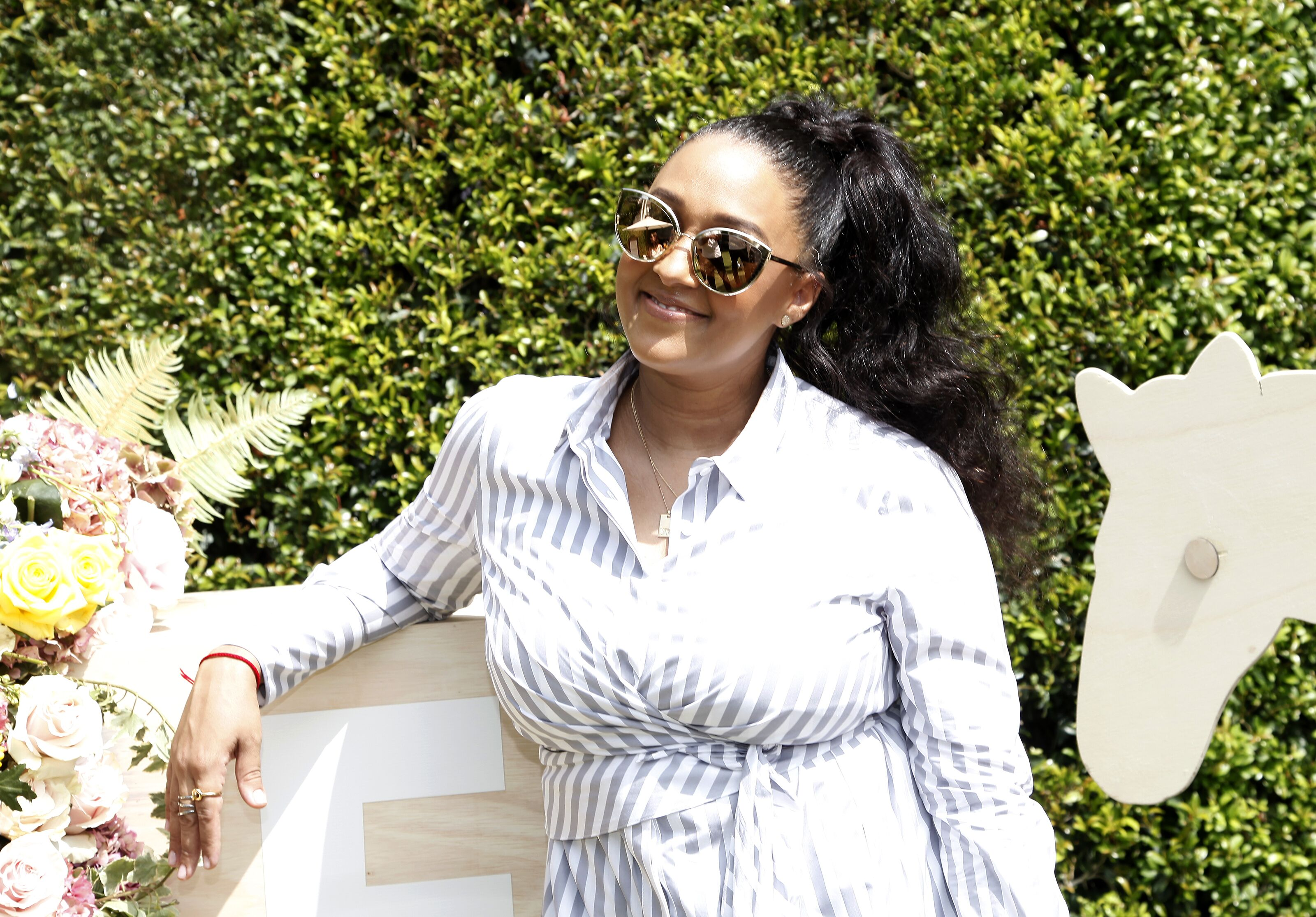 Tia Mowry at a Back-To-School block party on Aug. 25, 2018 in California | Photo: Getty Images