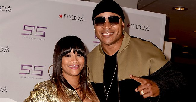 Ll Cool J's Wife Simone Poses in Money Dress & Thigh-High Boots with Daughters in Photo