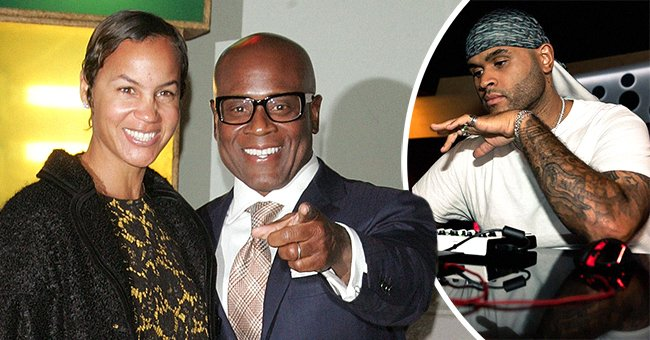 Left: The music producer LA Reid and his former wife Pebbles. Right: Their son Aaron Reid. | Source: Getty Images and Instagram @aaronreid