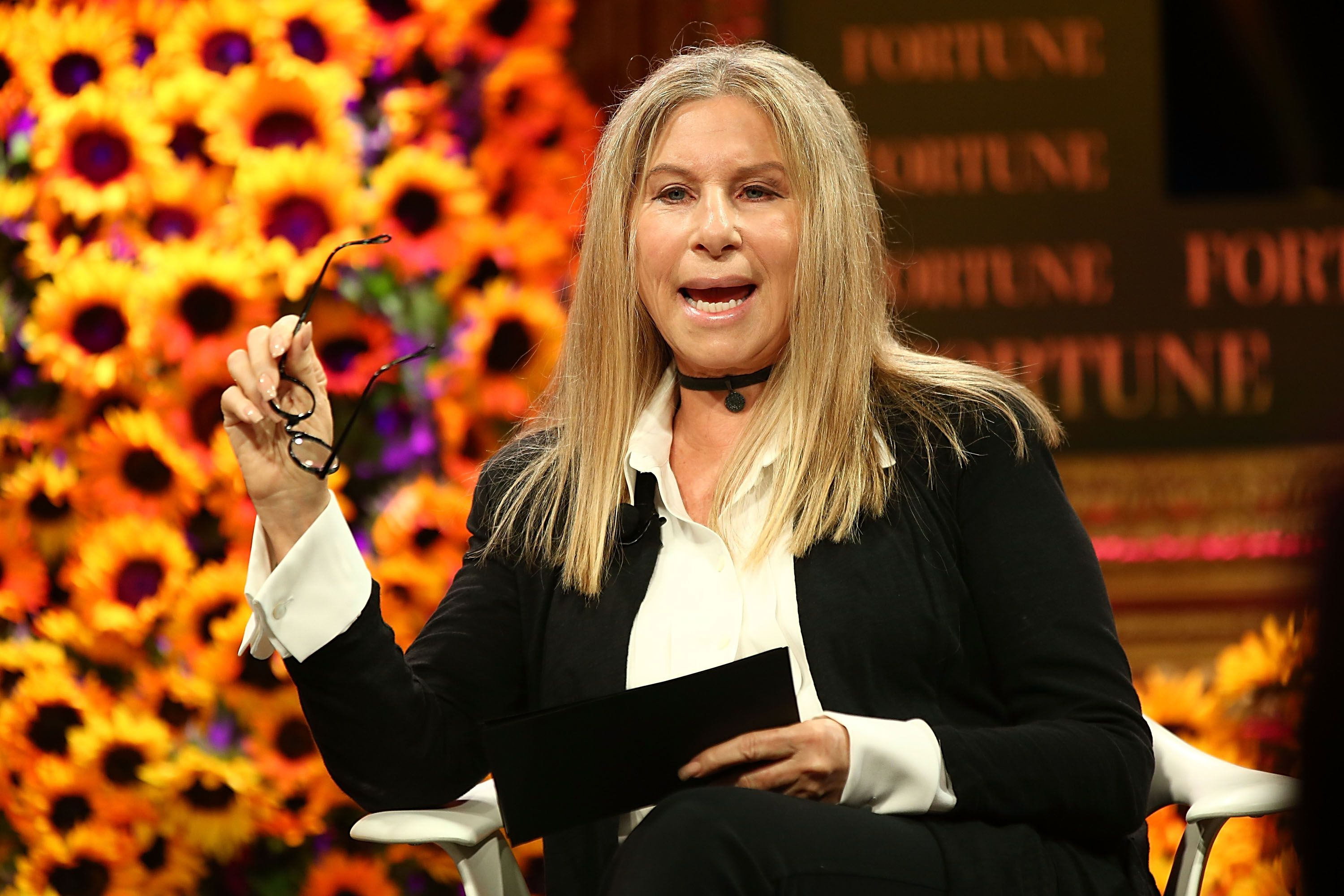 Barbara Streisand speaks onstage at the Fortune Most Powerful Women Summit 2016 at Ritz-Carlton Laguna Niguel on October 18, 2016 in Dana Point, California. | Source: Getty Images