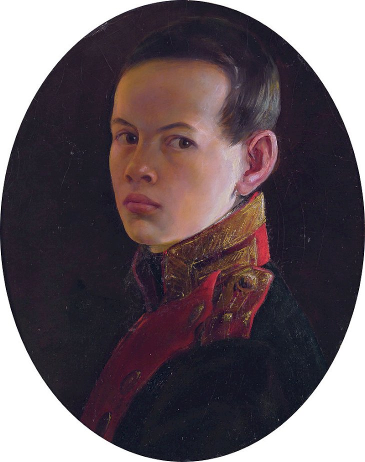 Attributed toGeorge Dawecreator QS: P170, Q4233718, P1773, Q1507231,Alexander II as a boy, attributed to George Dawe, marked as public domain, more details onWikimedia Commons