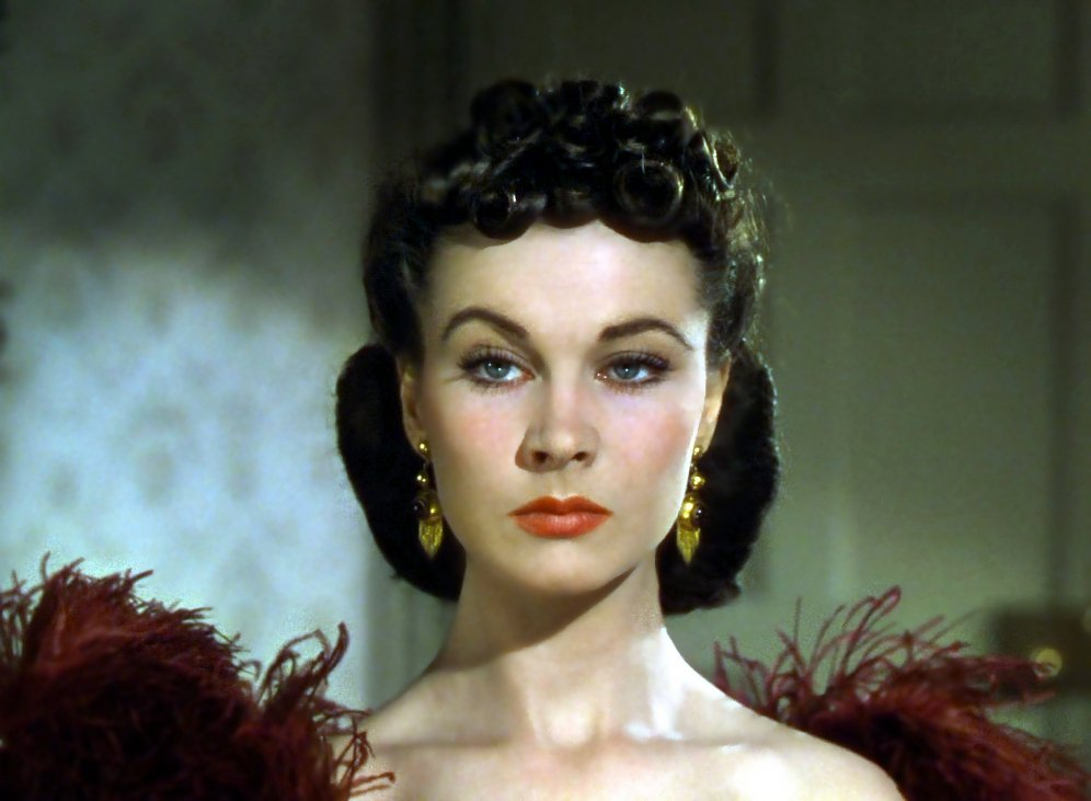 "Vivien Leigh as Scarlett O'hara from the trailer for the film ""Gone with the Wind"" 