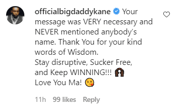 Big Daddy Kane's comment of support to Luenell following some backlash on social media | Photo:: Instagram/theneighbourhoodtalk