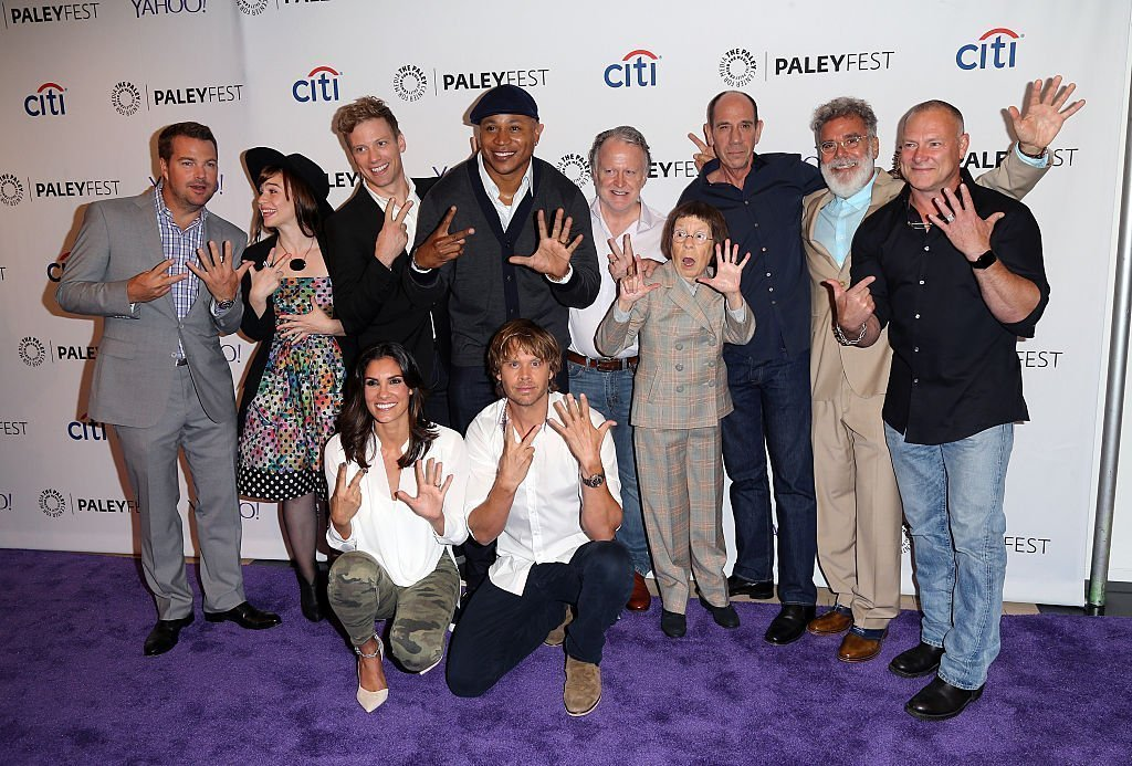 The cast of NCIS : LA pose comically at a red carpet event | Getty Images / Global Images Ukraine