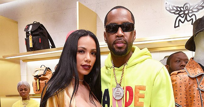 Safaree & Erica Mena Show Expensive Pendant with Their Daughter Safire's Image — See His Chain