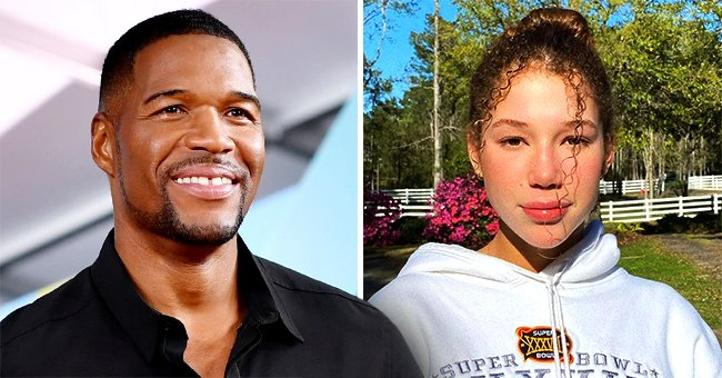 Michael Strahan's Daughter Sophia Poses in Matching Yellow Crop-Top and Pants in a Photo